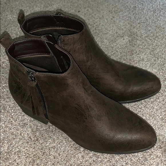 JustFab Shoes - Just Fab Brown Booties